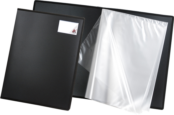 Colby Art Fabric Edged A3 20 Page Display Book Black