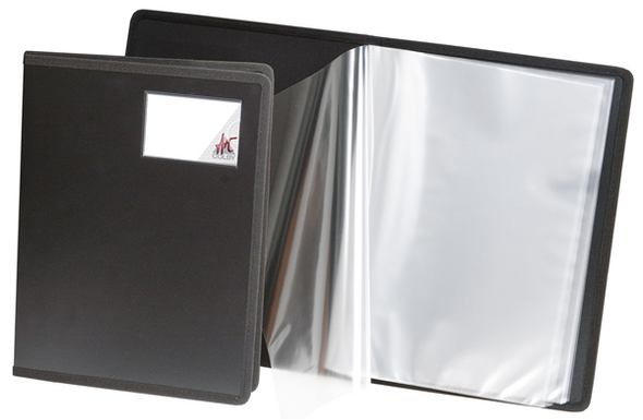 Colby Art Fabric Edged A4 20 Page Display Book Black