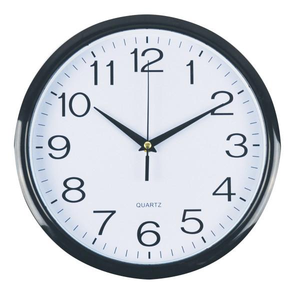 Italplast I391B 30cm Wall Clock - Black Trim