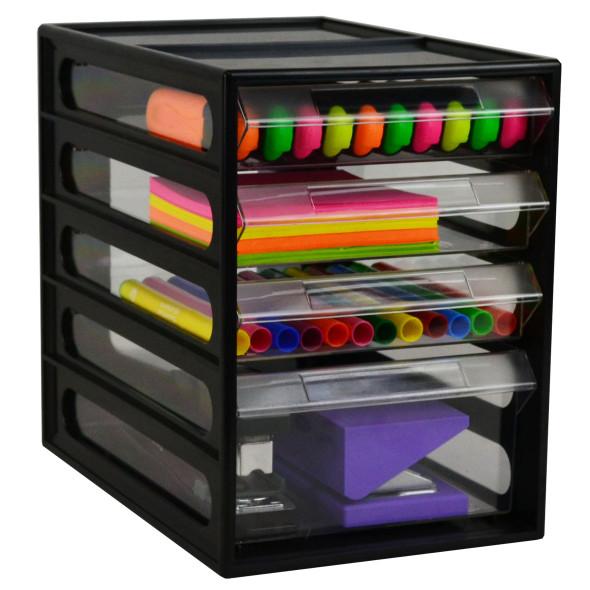 Italplast 4 Drawer Office Organiser Cabinet