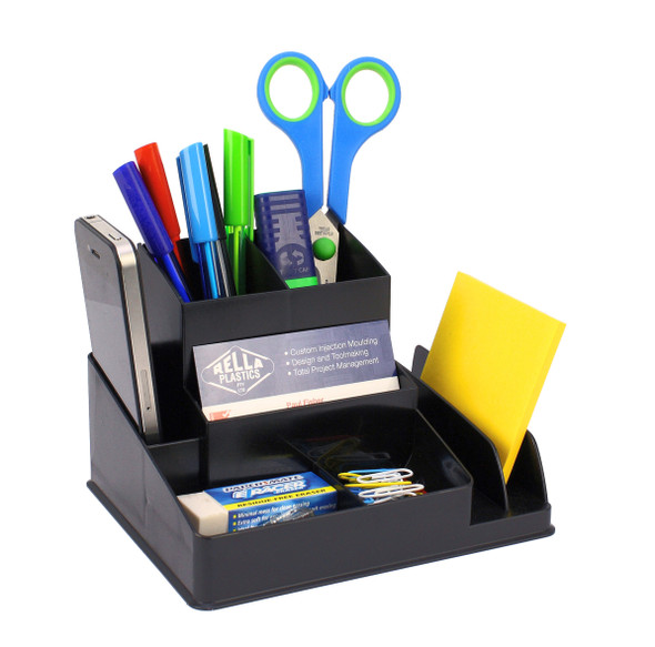 Italplast I 35BLK  Fruit Desktop Organiser Black