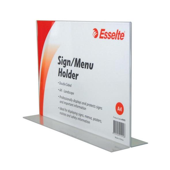Esselte Sign/Menu Holder 2 Sided Landscape A4