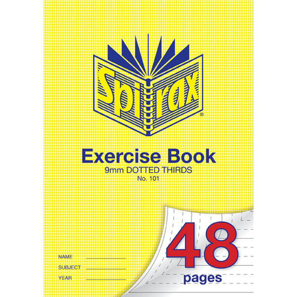 Spirax 101 Exercise Book 48 Page A4 9mm Dotted Thirds