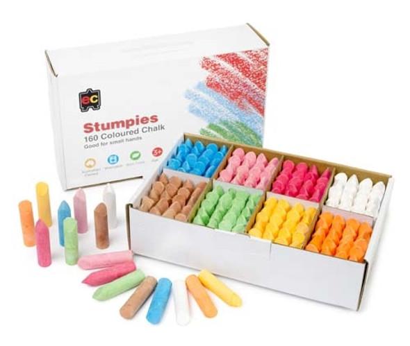 Educational Colours Stumpies Chalk 160pcs School Pack