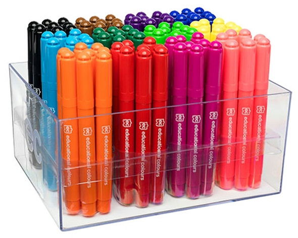 Educational Colours Master Mega Markers Crate of 96 Assorted Colours