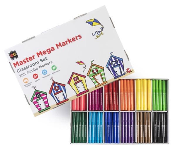 Educational Colours Master Mega Markers Box of 288