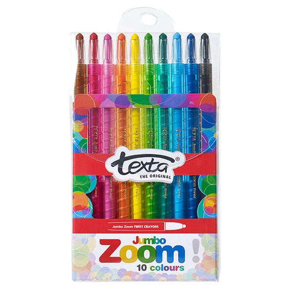 Texta Zoom Jumbo Crayon Pack 10