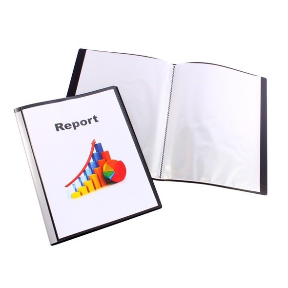 Bantex Display Book Fixed Insert PP A4 40 Pockets - Black