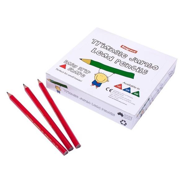 Belgrave Pencil Triangular Jumbo Wood HB Pack 72 Lead