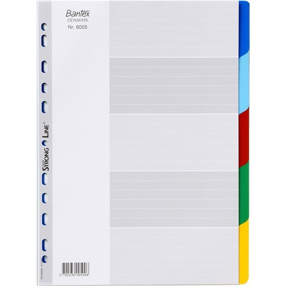 Bantex Dividers Strong Line PP A4 5 Tabs Assorted
