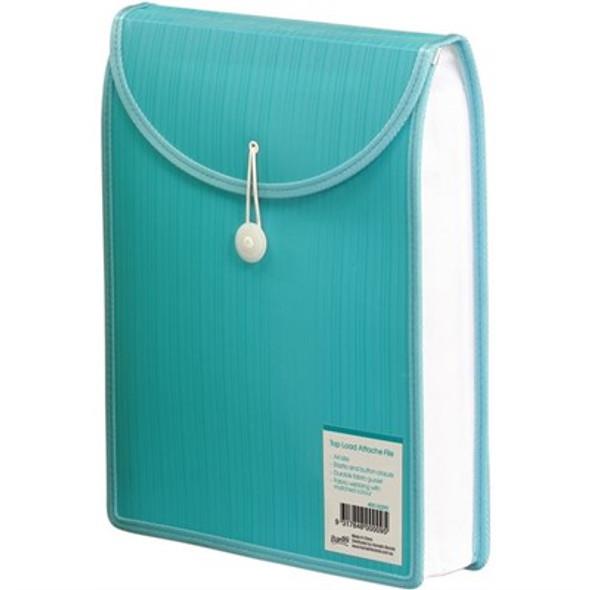 Bantex Top Load Attache File  A4 - Aqua