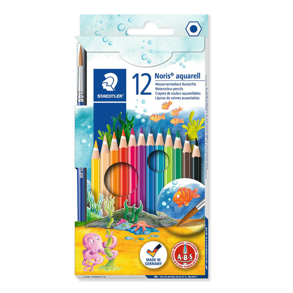 Noris Aquarell 144 10 Watercolour Pencils Pack 12
