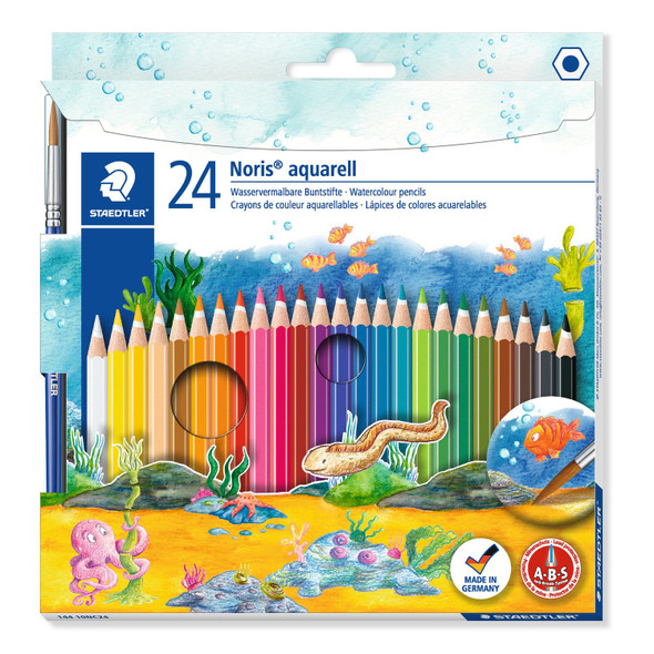 Copy of Noris Aquarell 144 10 Watercolour Pencils Pack 24