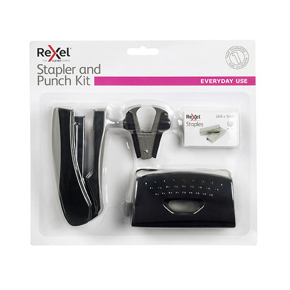 Rexel Stapler Value Pack With Punch Black