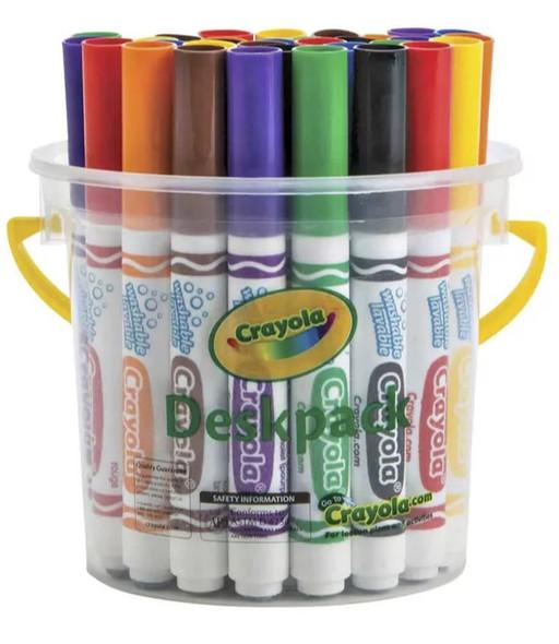Crayola Classic Washable Marker - Deskpack