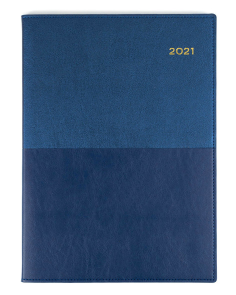 Collins Vanessa Diary 2021 A4 Day To Page Blue