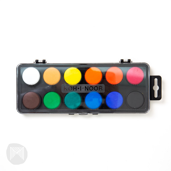 Koh-I-Noor Watercolour Box - 12 Assorted