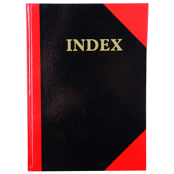 Cumberland Red & Black Notebook Gloss A4 100 Leaf Indexed