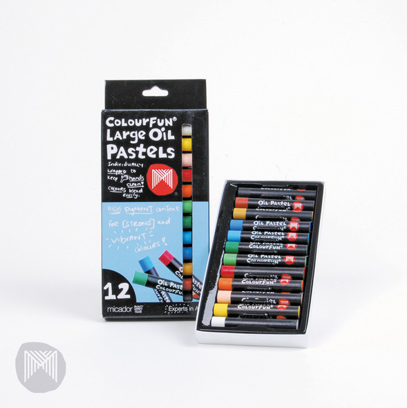 Micador Large Oil Pastels Colourfun Pack 12