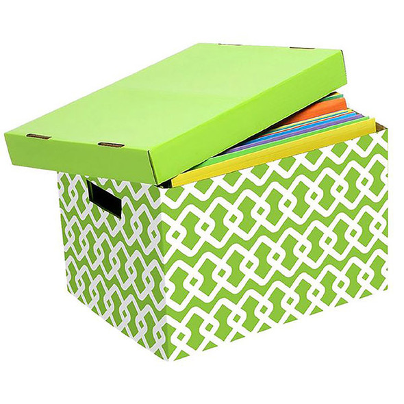 Marbig Archive Box Lime Pattern 10 Each