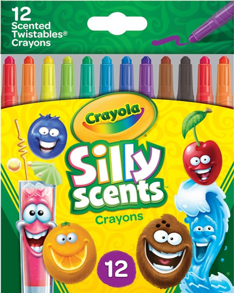 Crayons Crayola 12 Silly Scents Mini Twistables Assorted