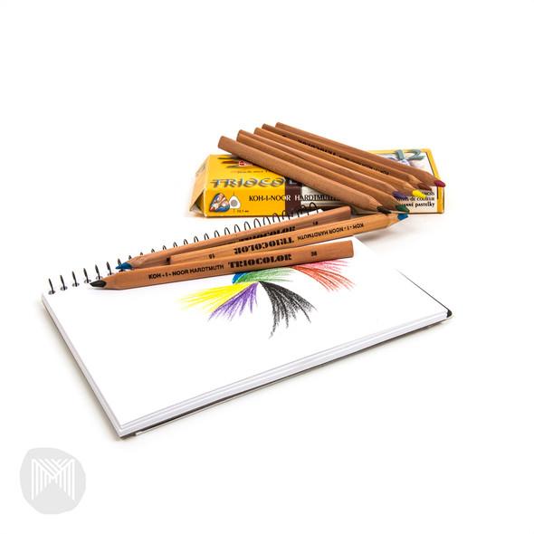 Koh-I-Noor Triocolor Pencils Pack 12