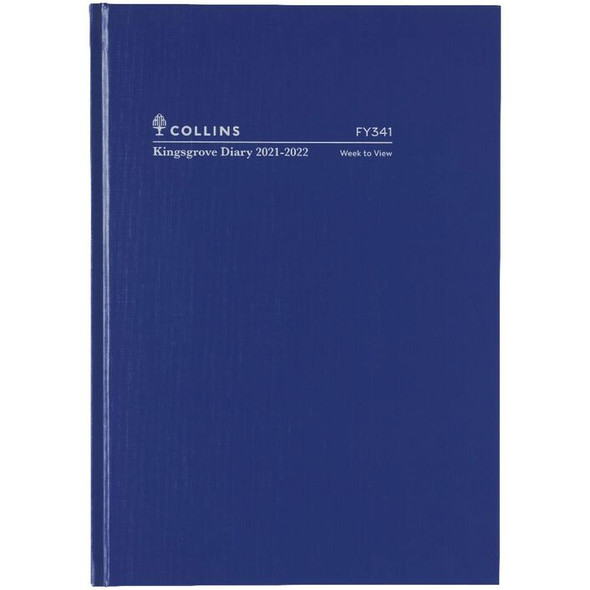 Collins A4 Week to View FY21/22 Kingsgrove Diary Blue