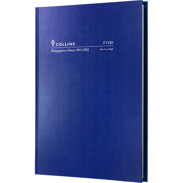 Collins A5 Day To Page FY21/22 Kingsgrove Diary Blue