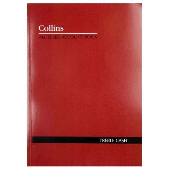 Collins Account Book 'A60' Series 3 Money Column (Treble Cash)