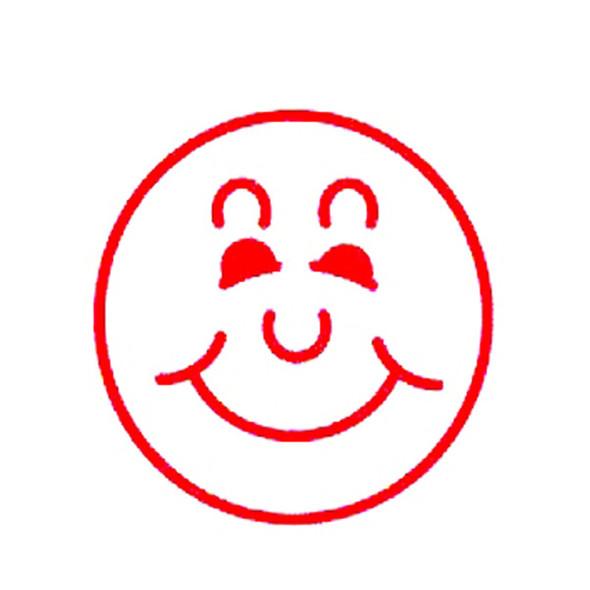 Deskmate Pre-Inked Merit Stamp Smile Face Red