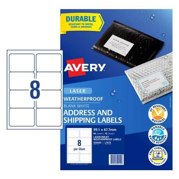 Avery L7070 Shipping Labels
