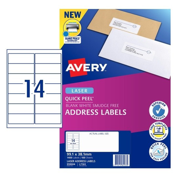 Avery 14UP Laser Labels