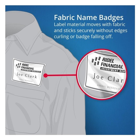 Avery Name Badge Fabric Labels 959171 8UP Pack 15
