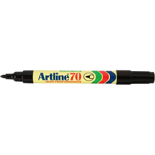Artline 70 Permanent Marker 1.5mm Bullet Nib  Black