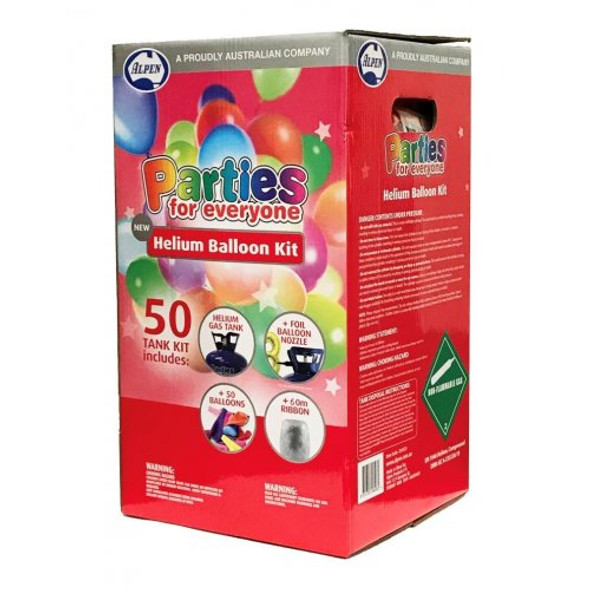 Party For Everyone Helium Balloon Kit - Includes 50 Balloons & Ribbon 2 kits
