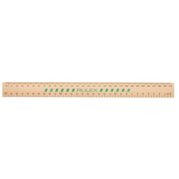 Rulex Wooden Ruler Unpolished 30cm