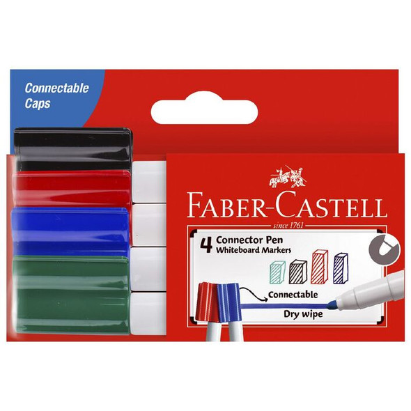 Faber Connector Whiteboard Markers 4 pack