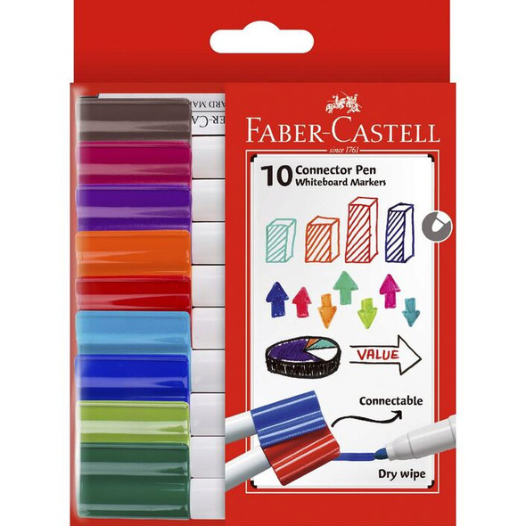 Faber Castell Connector Whiteboard Markers 10 Pack