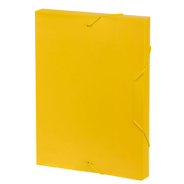 MARBIG DOCUMENT BOX A4 YELLOW