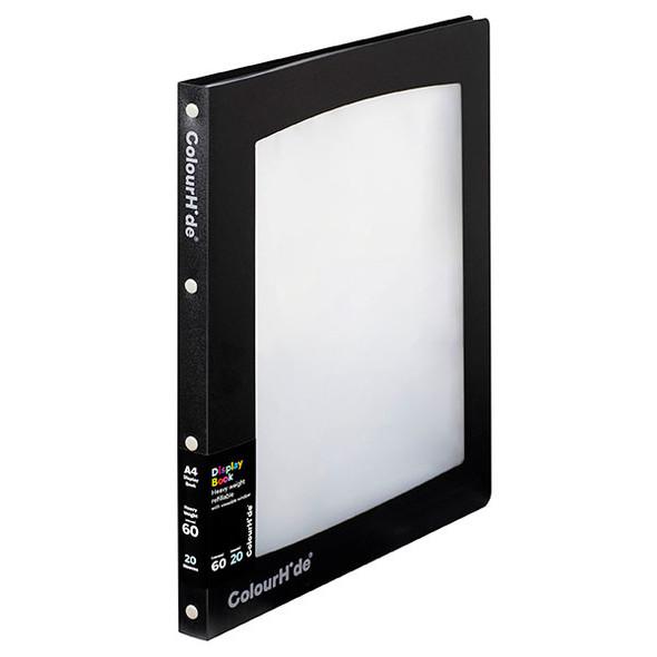 Colourhide Insert Cover Display Book Black