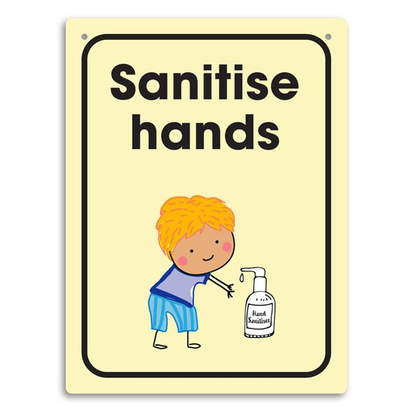 Durus Wall Sign Sanitise Hands