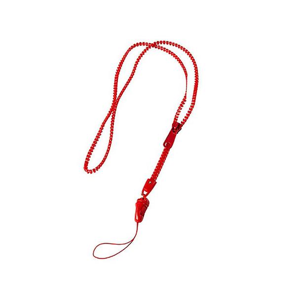 Rexel R Zippered Lanyard Red