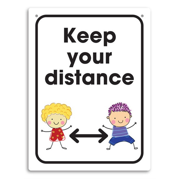 Durus Wall Sign Keep Your Distance