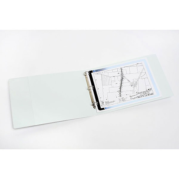 Marbig Clearview Insert Binder A3 Landscape White