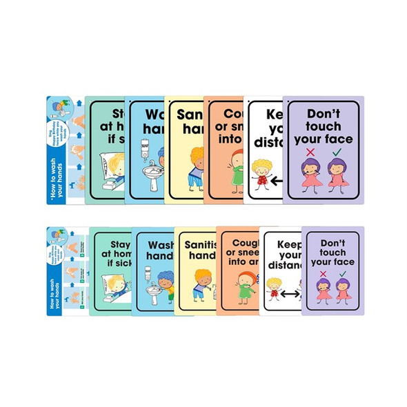 Durus School Wall Signs Assorted Pack7 with Teaching Cards