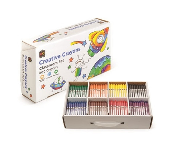 Educational Colours Best Value Crayons Box 800