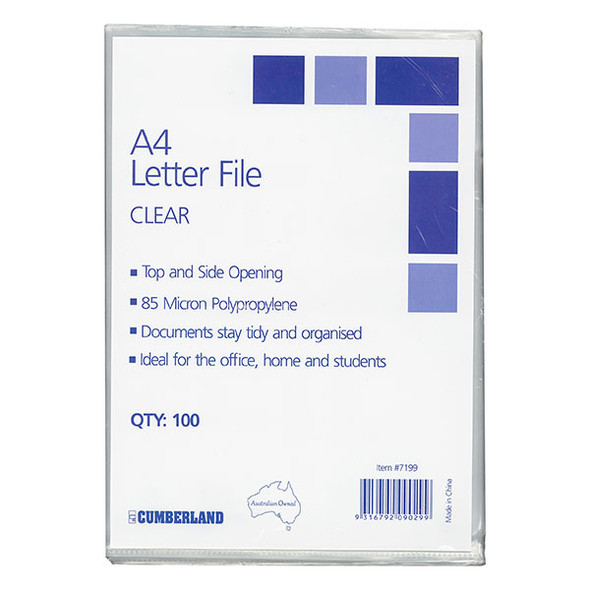 Cumberland letter files A4 pack 100
