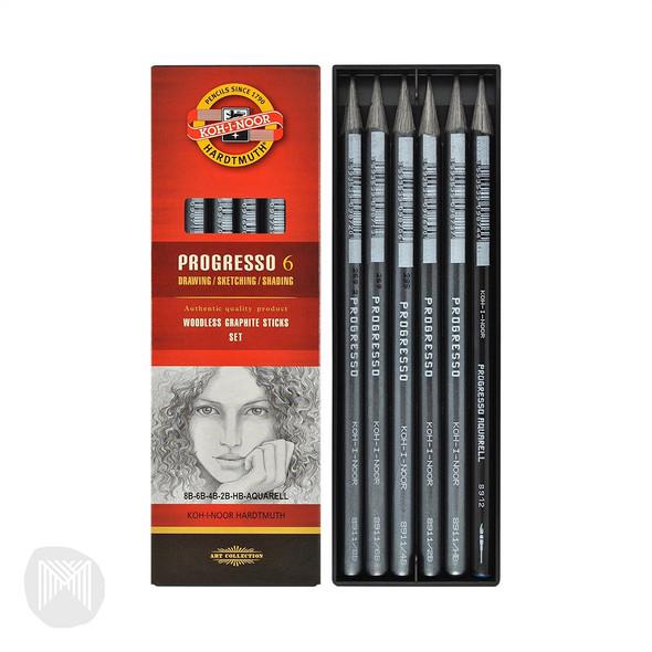 Progresso Pencils Set Of 6