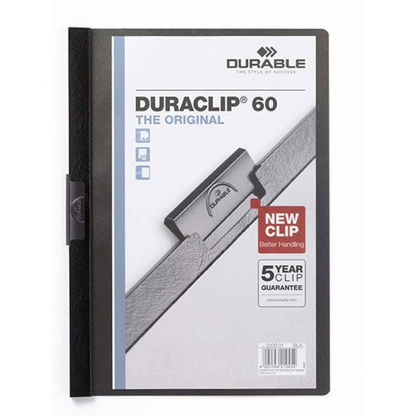 Durable Duraclip Document File A4 60 Sheet Black