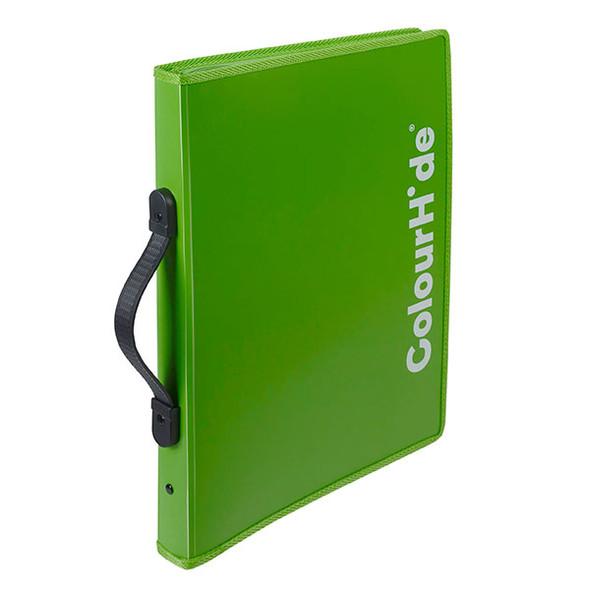 Colourhide Expanding File Zipper Green